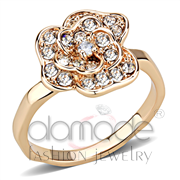 Wholesale Top Grade Crystal, Clear, Rose Gold, Women, Brass, Ring