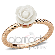 Wholesale Synthetic, White, Rose Gold, Women, Brass, Ring