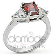 Wholesale AAA Grade CZ, Garnet, High-Polished, Women, 925 Sterling Silver, Ring
