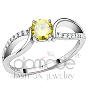 Wholesale AAA Grade CZ, Topaz, High polished (no plating), Women, Stainless Steel, Ring