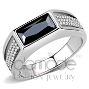 Wholesale AAA Grade CZ, Black Diamond, High polished (no plating), Men, Stainless Steel, Ring
