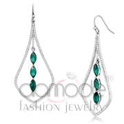 Wholesale Synthetic, Blue Zircon, High polished (no plating), Women, Stainless Steel, Earrings