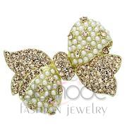 Wholesale Synthetic, White, Flash Gold, Women, White Metal, Brooches