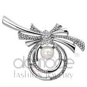 Wholesale Synthetic, White, Imitation Rhodium, Women, White Metal, Brooches