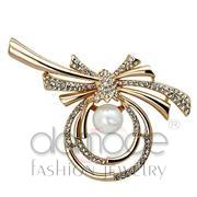 Wholesale Synthetic, White, Flash Rose Gold, Women, White Metal, Brooches