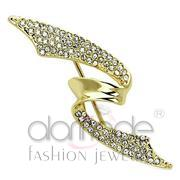 Wholesale Top Grade Crystal, Clear, Flash Gold, Women, White Metal, Brooches