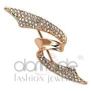Wholesale Top Grade Crystal, Clear, Flash Rose Gold, Women, White Metal, Brooches