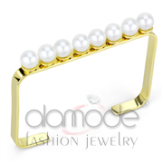 Wholesale Synthetic, White, Gold, Women, Brass, Bangle