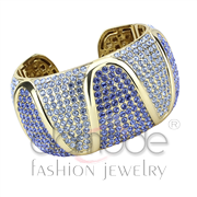 Wholesale Top Grade Crystal, Multi Color, Gold, Women, Brass, Bangle