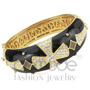 Wholesale Top Grade Crystal, Clear, Gold, Women, Brass, Bangle