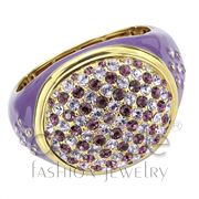 Wholesale Top Grade Crystal, Amethyst, Gold, Women, Brass, Bangle