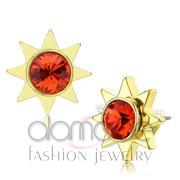 Wholesale Top Grade Crystal, Orange, Gold, Women, Brass, Earrings