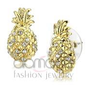 Wholesale Top Grade Crystal, Clear, Gold, Women, Brass, Earrings