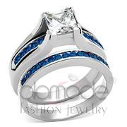Wholesale AAA Grade CZ, Multi Color, High polished (no plating), Women, Stainless Steel, Ring