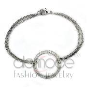 Wholesale AAA Grade CZ, Clear, High polished (no plating), Women, 925 Sterling Silver, Bracelet