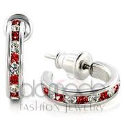 Wholesale Top Grade Crystal, Siam, High-Polished, Women, 925 Sterling Silver, Earrings