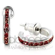 Wholesale Top Grade Crystal, Garnet, High-Polished, Women, 925 Sterling Silver, Earrings