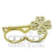 Wholesale AAA Grade CZ, Champagne, IP Gold(Ion Plating), Women, Stainless Steel, Ring