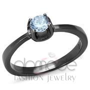 Wholesale AAA Grade CZ, Light Amethyst, IP Light Black  (IP Gun), Women, Stainless Steel, Ring