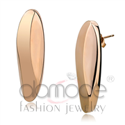 Wholesale No Stone, IP Rose Gold(Ion Plating), Women, Stainless Steel, Earrings