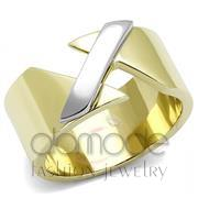 Wholesale No Stone, Two-Tone IP Gold (Ion Plating), Women, Stainless Steel, Ring