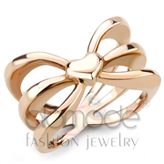 Wholesale No Stone, IP Rose Gold(Ion Plating), Women, Stainless Steel, Ring