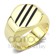 Wholesale No Stone, IP Gold(Ion Plating), Men, Stainless Steel, Ring