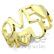 Wholesale No Stone, IP Gold(Ion Plating), Women, Stainless Steel, Ring