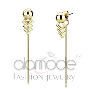 Wholesale No Stone, IP Gold(Ion Plating), Women, Stainless Steel, Earrings