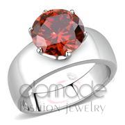 Wholesale AAA Grade CZ, Garnet, High polished (no plating), Women, Stainless Steel, Ring