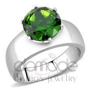 Wholesale Synthetic, Peridot, High polished (no plating), Women, Stainless Steel, Ring