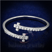 Wholesale AAA Grade CZ, Clear, Rhodium, Women, 925 Sterling Silver, Ring