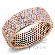 Wholesale AAA Grade CZ, Light Rose, Rose Gold, Women, 925 Sterling Silver, Ring