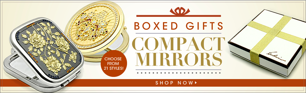 コレクション;ミラー;BOXED GIFTS;COMPACT MIRRORS;CHOOSE FROM 21 STYLES!